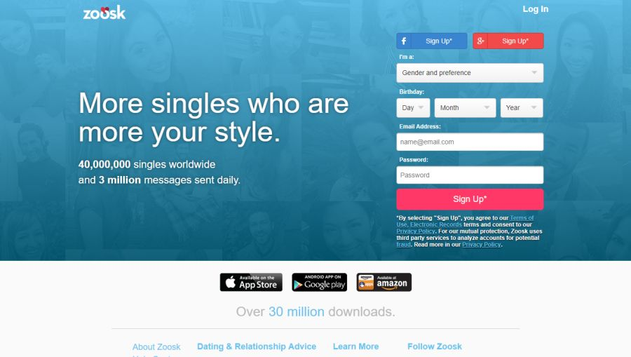 Africa zoosk sign up south How do